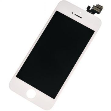Display cu touchscreen si rama Apple iPhone 5 Original Alb