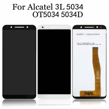 Display cu touchscreen si rama Alcatel 3L 5034D Original Negru